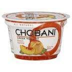 Chobani All Natural Peach Greek Yogurt 6 oz