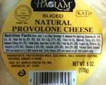 Haolam Sliced Natural Provolone Cheese 6 oz