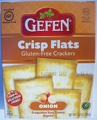 Gefen Gluten Free Crisp Flats Onion 5.2 oz