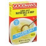 Goodman's 50% Less Salt Matzo Ball & Soup Mix 4.5 oz